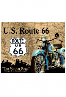 PLACA DECORATIVA THE MOTHER ROAD ROUTE 66